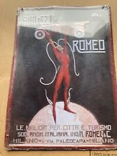 Insegna Targa Pubblicitaria Metallo Alfa Romeo Vintage