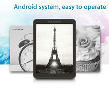 """T80s 7.8"""" Ebook Reader Dual Core Touch Screen 300PPI Wireless Wifi 1GB + 16GB"""