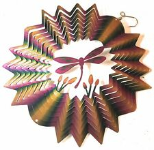 Stainless Steel Wind Spinner Dragonfly Purple Gold Green,Eye Catching