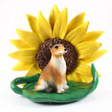 Collie Sunflower Figurine Smooth