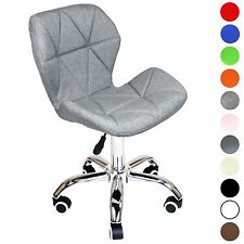 Reboxed Cushioned Computer Desk Chair Chrome Legs Lift Swivel Charles Jacobs 503