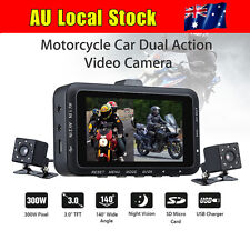 DV168 Motorcycle Action Video Camera Night Vision Dual Dash Cam Video Camcorder