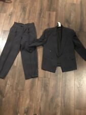HUGO BOSS Al Capone 38R Dark Gray Wool Mens Sport Coat Blazer Suit Jacket Pants