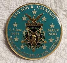 AUTHENTIC JON R. CAVAIANI MEDAL OF HONOR SF DELTA POW RARE (REAL) CHALLENGE COIN