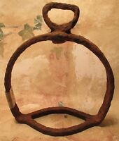 DUG UP Antique Unusual Relic 1700's Single Iron Hand Forged Saddle Stirrup