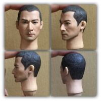 "1:6 Scale Asian Head Sculpt De Hua Liu+Base For 12"" Male Toys Action Figure Doll"