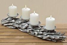 Kerzenleuchter Holz 4er Malou - L 55 cm