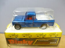 "DINKY TOYS MODEL No.344  LAND ROVER PICK-UP  "" HIGH PLINTH  VERSION BOX ""    MIB"