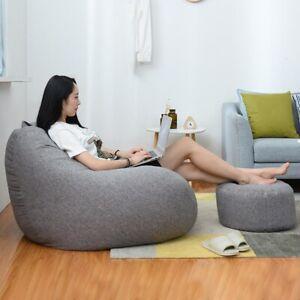 Lazy Sofa Cover Bean Bag Lounger Chair Sofa Seat Living Room Furniture