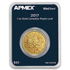 2017 Canada 1 oz Gold Maple Leaf (MintDirect® Single) - SKU #102769