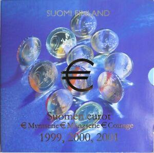FIX1999.1 - COFFRET BU FINLANDE - 3 séries 1999 / 2000 /2001 - 1 cent à 2 euros