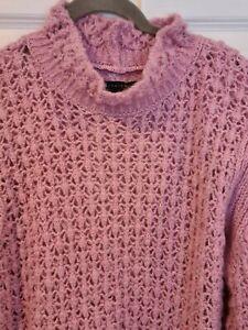 Stunning ASOS DESIGN Jumper ~ Pink ~ Open Knit ~ NWOT ~ 14