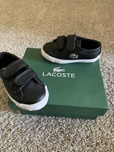 NEW Lacoste Toddler Boy's Marcel GT2 Fashion Black/black Sneakers Shoes - Sz: 4