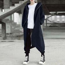 UK Womens Winter Zipper Hooded Long Coats Jackets Hoodies Outwear Sweatshirts