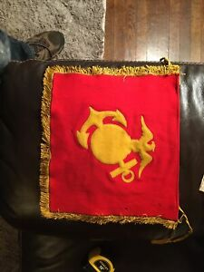 WWII US Marine Corps Guidon Flags 12x12inches