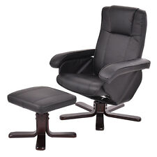 PU Leather Executive Chair Leisure Recliner Swivel Furniture w/ Ottoman New