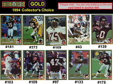 RARE-GOLD ~ ANDRE RISON [FALCONS] 1994 Collector's Choice free shipping!
