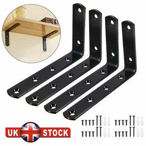 4PCS Heavy Duty Shelf Brackets Scaffold Industrial Rustic Handmade Steel Metal