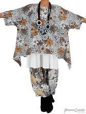 PoCo LAGENLOOK Überwurf Shirt Tunika Oversize L-XL-XXL-XXXL 46 48 50 52 54 56 58