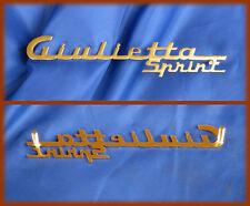 ALFA ROMEO GIULIETTA SPRINT - Seitlich Schriftzug Abzeichen Skript Emblem