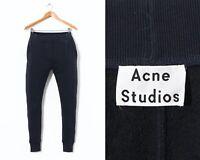 Women's ACNE STUDIOS Bobby Fl Paw16 Sweat Pants Trousers Navy Blue Size L