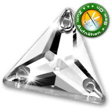 50 Strass-Steine zum Aufnähen, Dreieck, 17 mm, Crystal, (aus Acryl)