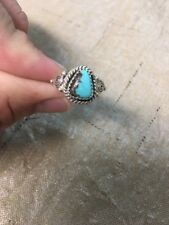 Native American Womens Navajo Turquoise Ring Size 8.5 Stunning #4  Look!!!!