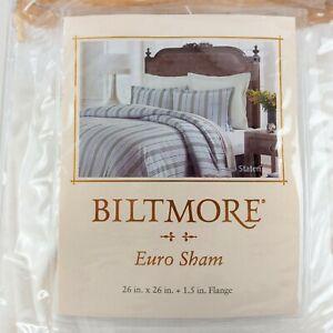 Biltmore Staten Euro Shams (2) White Square Shams In Packaging