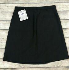 NWT DSCP Quarterdeck Collection Black Wool Blend Skirt Size 16 16JR New i16