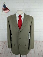 Yale Co-op Men's Gray Solid Blazer Sport Coat Suit Jacket 38R $348