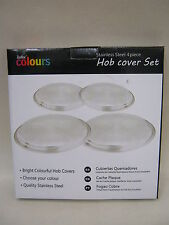 New Stainless Steel Hob Covers Electric Gas Hobs Cover Set 4 Piece