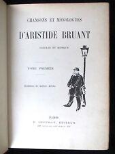 BRUANT Aristide - CHANSONS ET MONOLOGUES PAROLES ET MUSIQUE - SUR JAPON