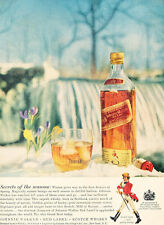 1957 Johnny Walker Red Label Scotch Whiskey Vintage Advertisement Print Ad J481