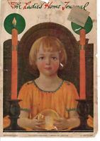 1919 Ladies Home Journal Cover only December - Christmas