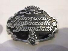 Typenschild Plakette Karosserie Autenrieth darmstadt BMW Opel Schild s27 502