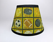 Sports Theme Football Baseball Basketball Soccer Fabric Lampshade Lamp Shade