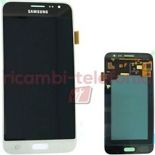vetro touchscreen originale Samsung J320 Galaxy J3 2016 bianco LCD display