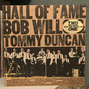 "BOB WILLS & TOMMY DUNCAN - Hall Of Fame (Double Album)- 12"" Vinyl Record LP - EX"