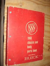 1968 BUICK PARTS BOOK RARE GM CATALOG SKYLARK & MORE BODY CHASSIS NUMBERS