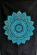 BLUE OMBRE Large Cotton Mandala Wall Hanging Tapestry Bohemian Room Wall Decor