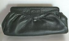 """COLE HAAN BLACK LEATHER CLUTCH MAGNETIC PULL APART 5""""Hx10""""L"""