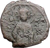 JESUS CHRIST Ancient Christian Byzantine Nicephorus III Follis1078AD Coin i48623