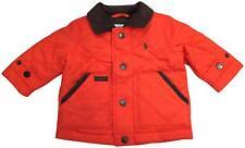 NEW NWT Ralph Lauren Baby Boy Logo Hagan Diamond Quilted Jacket 6M Orange
