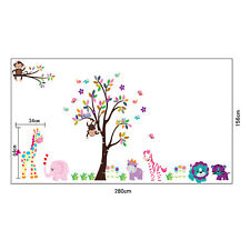 Autocollants Muraux Arbre Nursery Bebe Enfants Chambre Decalcomanie Art Fine #JH