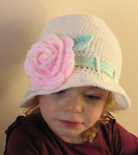CROCHET PATTERN (INSTRUCTIONS): Rose Cloche Hat, baby, child. Multisize, ref P40