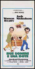 DUE UOMINI E UNA DOTE LOCANDINA FILM JACK NICHOLSON BEATTY 1974 PLAYBILL POSTER