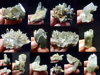 Natural Stunning Lot of Chlorite Quartz Crystals Specimens Pakistan 16Pcs 1.1kg