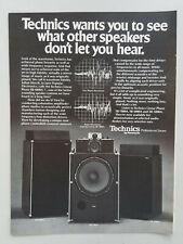 1977 Technics Linear Phase SB-6000A Surround Speakers Vintage Magazine Print Ad
