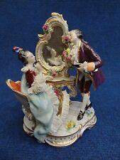 "Porcelain Group ""Boudoir"" Miniature Volkstedt M+F near Dressing table Dresden"