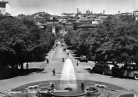 Cartolina Bergamo Viale Roma e panorama animata 1953